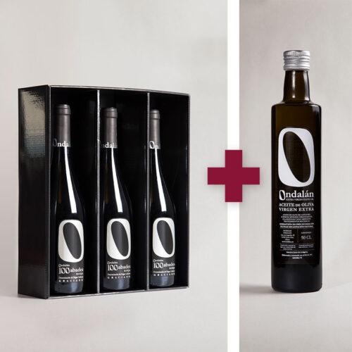 Bodegas Ondalán - Lote 3 vinos Ondalán 100 Abades Graciano + 1 Aceite de Oliva Virgen extra Ondalán