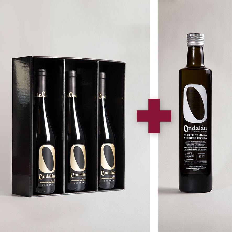 Bodegas Ondalán - Lote 3 vinos Ondalán Reserva + 1 Aceite de Oliva Virgen extra Ondalán